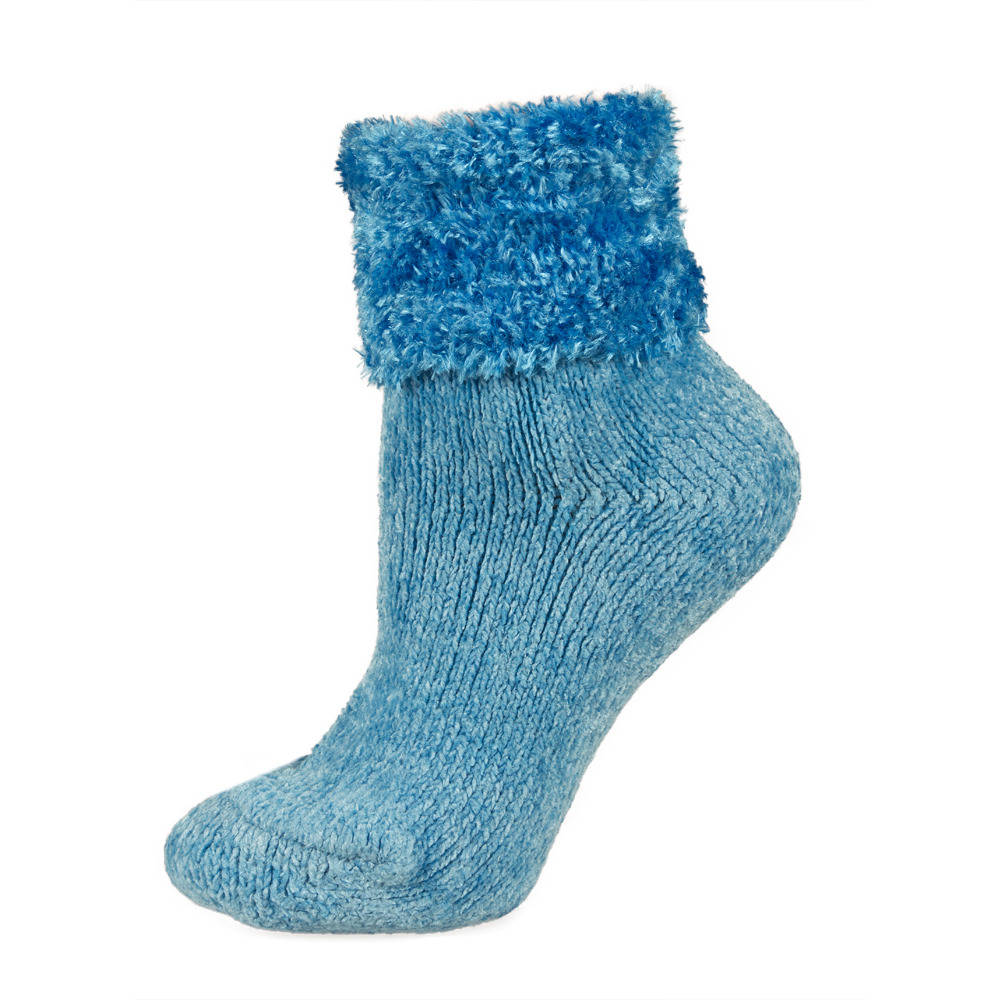 Stop wearing regular, thin socks on those cold, wintery nights and put on a pair of these fuzzy socks and keep your feet warm instead. Designed in a variety of solid colors and constructed with a polyester, nylon, and spandex blend of material, these fuzzy socks are available in women's standard shoe sizes.