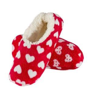 SOXO Women's ballerina slippers with hearts