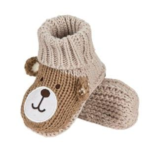 SOXO slippers knitted teddy bears in gift box