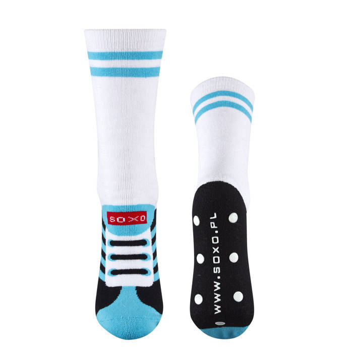 crazy price factory outlets best sell SOXO Men's football tube socks with funny text