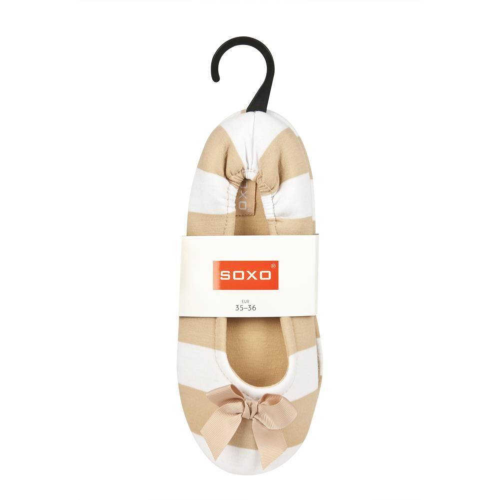 94d383d41dcb SOXO stripped ballerina slippers with bow ...