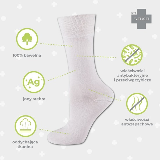 DR SOXO socks with silver ions