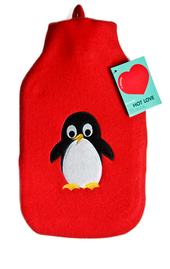 Hot water bottle in terry cover HOT LOVE collection