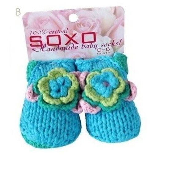 "SOXO Infant crochet socks - ""Sea Flower"""