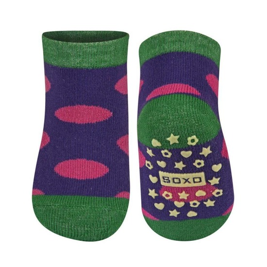 SOXO Infant socks with pretty patterns and abs