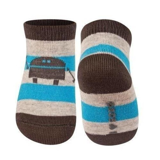 SOXO Infant striped socks with funny motives