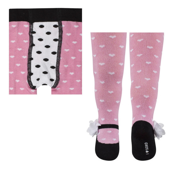 SOXO Infant tights with pretty patterns