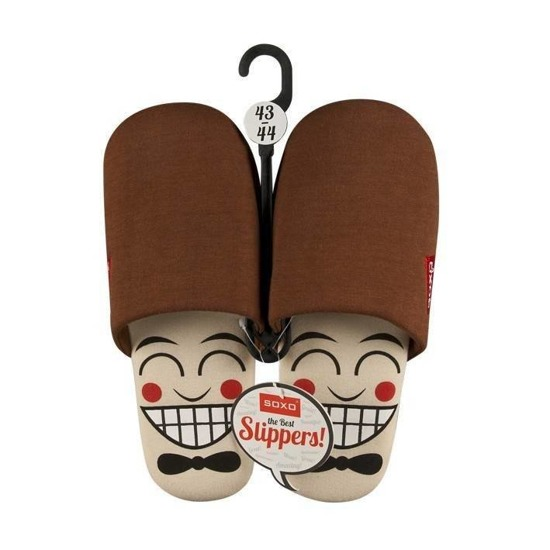 SOXO Men's slippers with faces