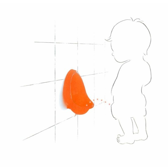SOXO Pee trainer for boys - orange
