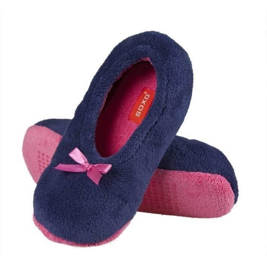 SOXO Women's ballerina slippers with a bow