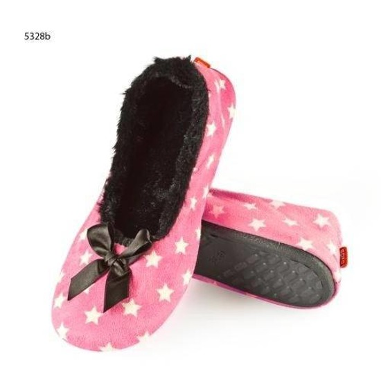 SOXO Women's ballerina slippers with starts + TPR sole
