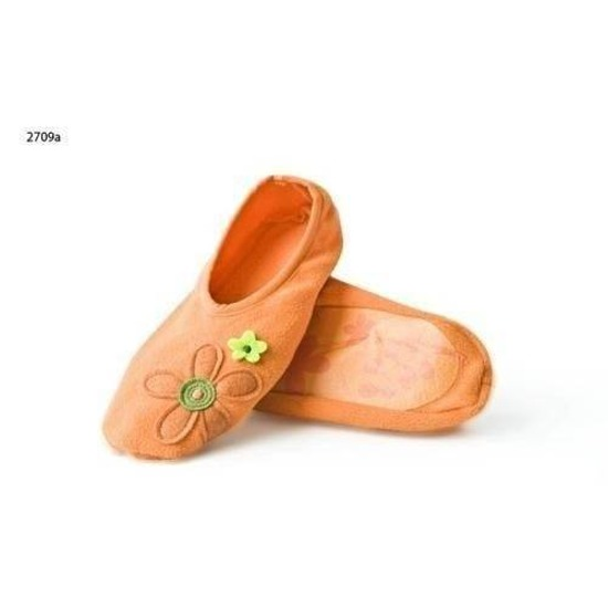 SOXO Women's fleece ballerina slippers with embroidery