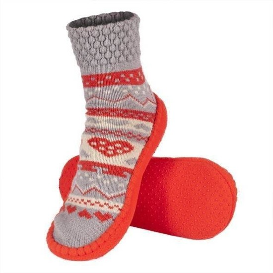 SOXO Women's knitted slippers with a gift bag