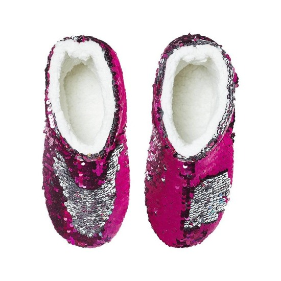 SOXO Women's pink slippers with hard sole