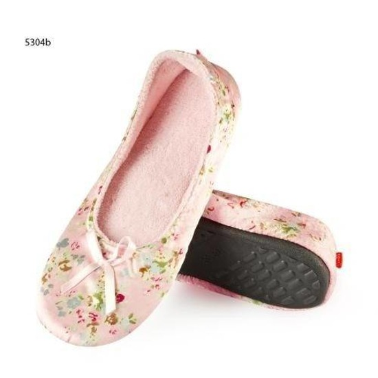 SOXO Women's satin ballerina slippers with flowers and bow