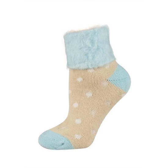 SOXO Women's socks with collar in pretty patterns