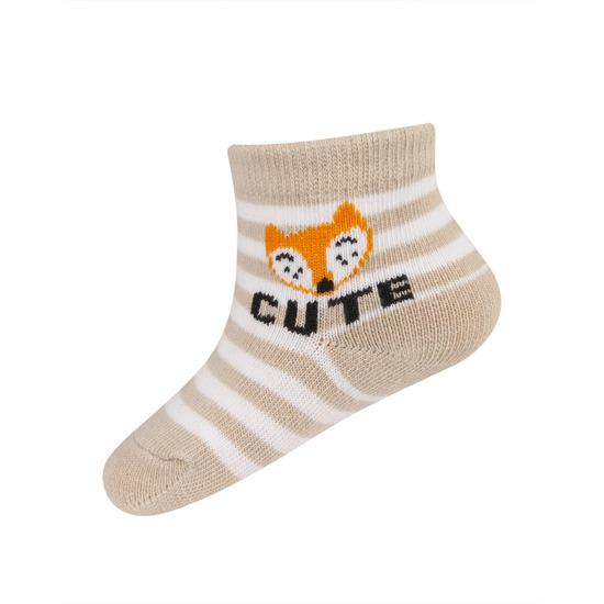 SOXO socks with lettering 'cute'