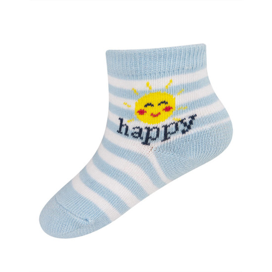 SOXO socks with lettering 'happy'