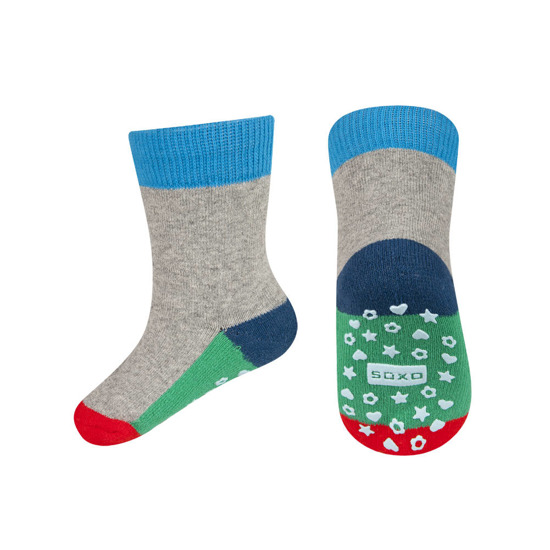 Socks SOXO wristbands with colored soles with ABS