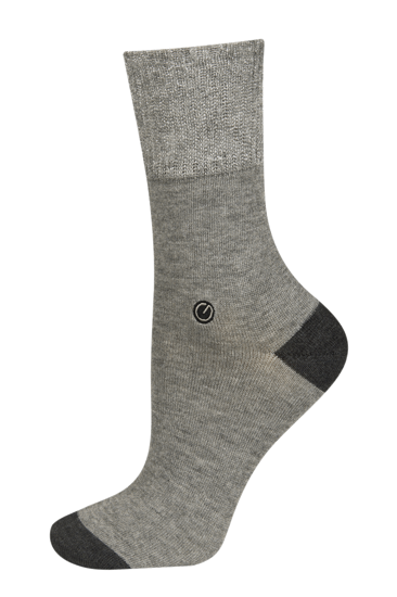 Socks with silver thread and golf