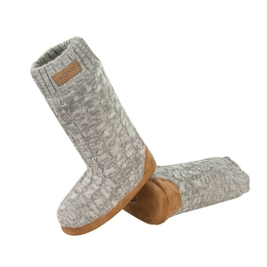 Soxo high women's knitted slippers