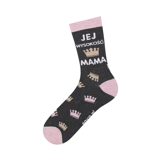 Women's socks SOXO Her Highness Mother - crowns