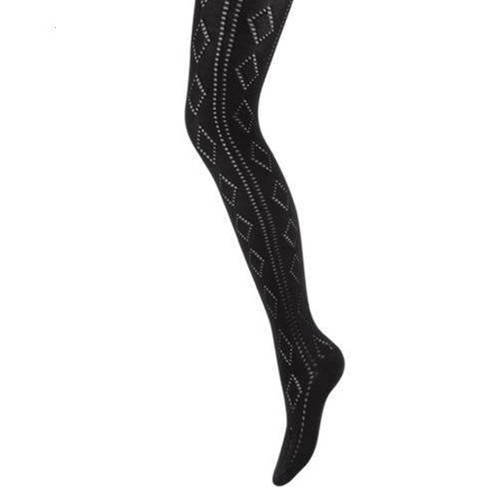 Women's tights with diamond design
