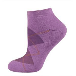 Argyle ankle socks – dark pink