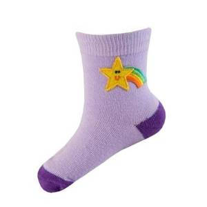 Pink SOXO baby socks with star