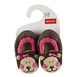 SOXO Infant slippers with animal motive