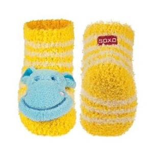 SOXO Infant striped chenille socks with rattle
