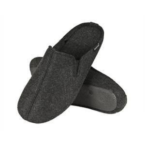 SOXO Men's felt slippers with TPR