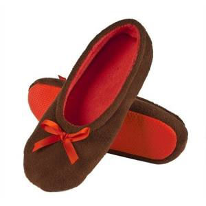 SOXO Women's ballerina slippers with bow