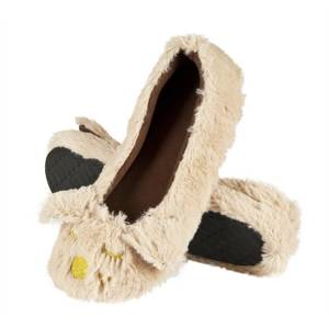 SOXO Women's ballerina slippers with dog pattern