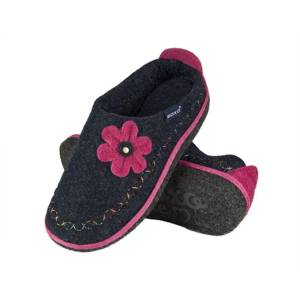 SOXO Women's felt slippers with flower