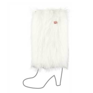SOXO Women's furry legwarmers, long