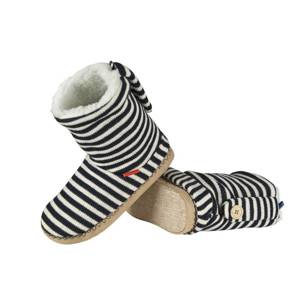 SOXO Women's knitted high boot slippers in stripes